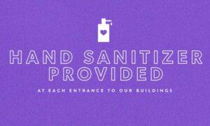 Hand Sanitizer Provided